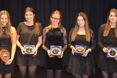 Winners of Ipswich High School's 2017 Senior Vocal Championships