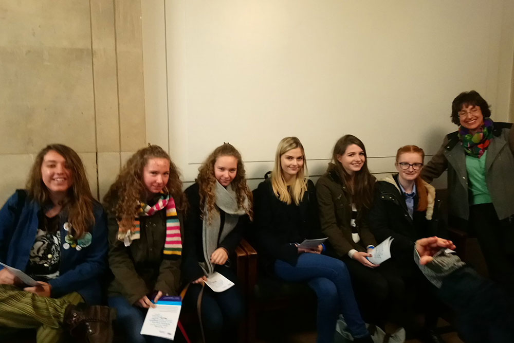 Ipswich High School Sixth Formers on an English Conference trip