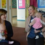 Parents and their children at Ipswich High School's Parent and Toddler group