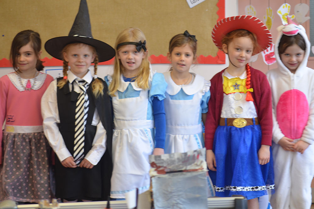 Ipswich High School Prep School pupils in fancy dress to celebrate World Book Day 2018