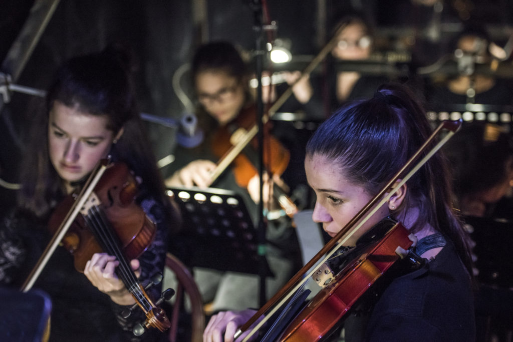 Ipswich High School Senior School pupils perform at a music concert