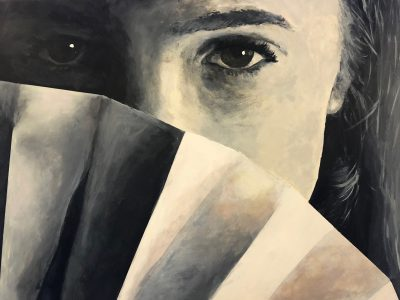 A painting from a GCSE art pupil at Ipswich High School