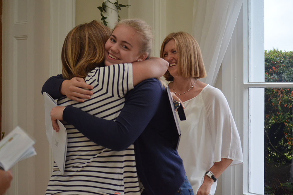Ipswich High School pupils celebrate receiving their A Level exam results