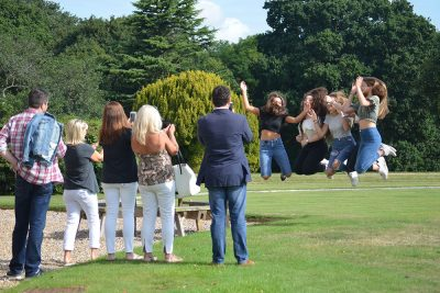 Ipswich High School pupils celebrate receiving their GCSE results
