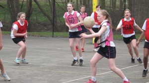 Ipswich High School netball team in action at Condover Hall