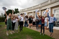 Ipswich High School Year 11 pupils celebrate receiving their GCSE results