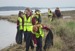 Ipswich High School pupils have taken part in litter picks as part of their bid to achieve the Eco-Schools Green Flag award