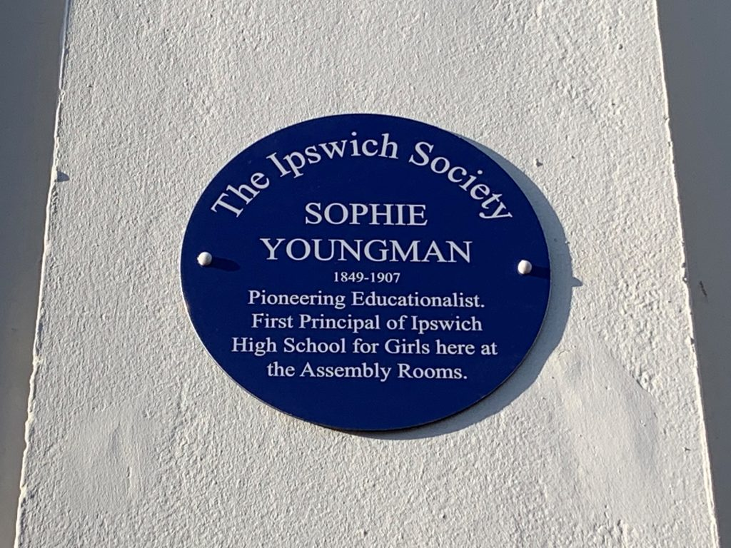 Blue plaque unveiled for Sophie Youngman